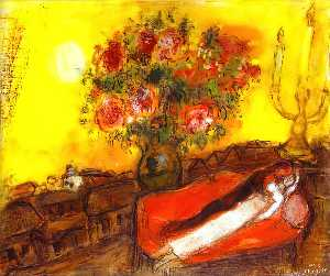 Marc Chagall - Os inflama Sky