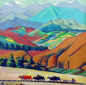 Martiros Saryan - Mountais