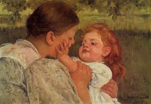 Mary Stevenson Cassatt - Maternal Caress