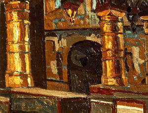 Nicholas Roerich - Rostov Veliky . Interior of church of Salvador .