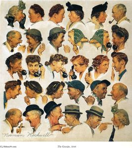 Norman Rockwell - As fofocas