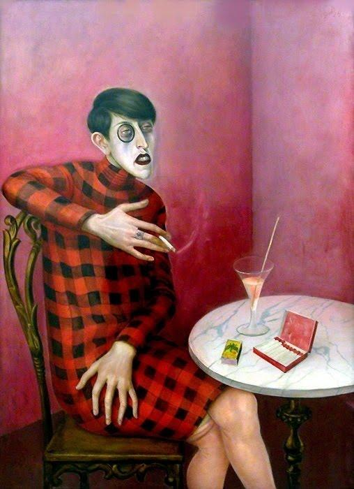 Retrato do Jornalista sylvia von Endurecer, Petróleo por Otto Dix (1891-1969, Germany)