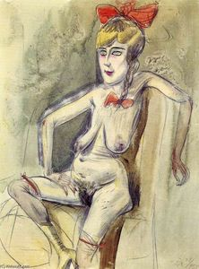 Otto Dix - Prostituta - Girl with Red Bow