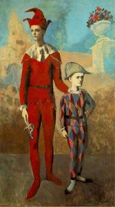 Pablo Picasso - Acrobat e Young Harlequin