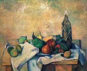 Paul Cezanne - Still vida , garrafa of rum