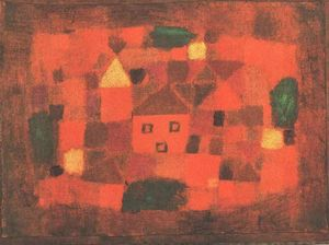 Paul Klee - Paisagem com por do sol