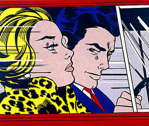 Roy Lichtenstein - no carro