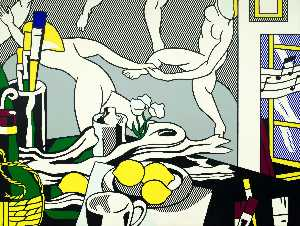 Roy Lichtenstein - Estúdio do artista -   o  dança