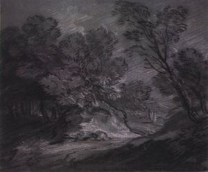 Thomas Gainsborough - Forest null com mountain