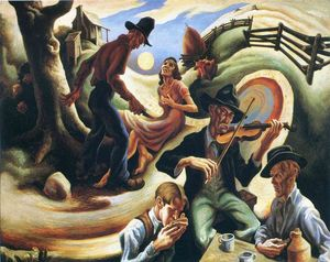 Thomas Hart Benton - A balada do amante ciumento de Lone Green Valley