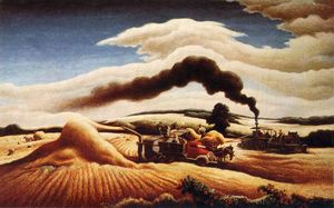Thomas Hart Benton - Debulha do trigo