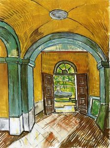 Vincent Van Gogh - o entrada Hall of Saint-Paul Hospital