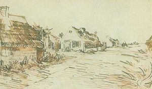 Vincent Van Gogh - Cottages em Saintes-Maries