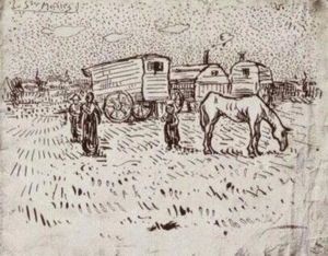 Vincent Van Gogh - Ciganos em Saintes-Maries
