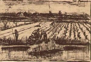 Vincent Van Gogh - Potato Field