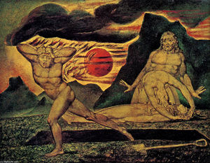 William Blake - O corpo de Abel encontrou em Adam - Eve