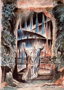 William Blake - Dante e Virgílio at the Gates of Hell