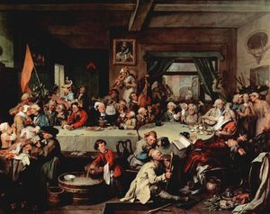 William Hogarth - O banquete