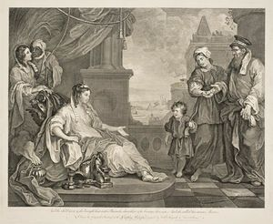 William Hogarth - Moisés levou a filha do Faraó