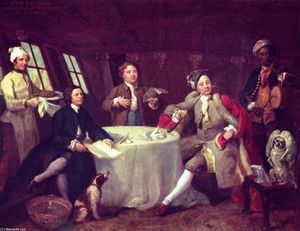 William Hogarth - Retrato of Senhor George Graham na sua bar
