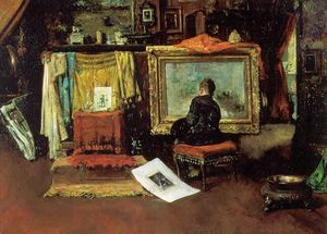 William Merritt Chase - o `tenth` rua estúdio