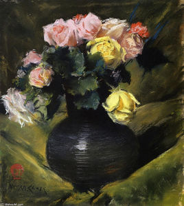 William Merritt Chase - Flores (aka Rosas)
