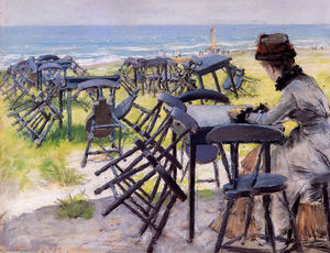 William Merritt Chase - fim da o temporada sol