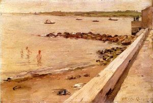 William Merritt Chase - o banhistas