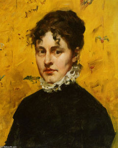 William Merritt Chase - Retrato do Artista Sister-in-Law