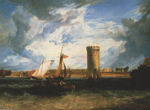 William Turner - Tabley, Seat do senhor JF Leicester Bt .: dia ventoso