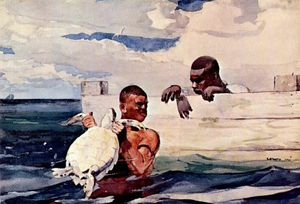 Winslow Homer - A Turtle Pound