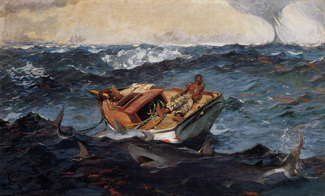 A Corrente do Golfo, 1906 por Winslow Homer (1836-1910, United States)