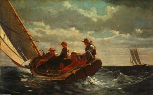 Winslow Homer - Breezing Up (Um vento Fair)