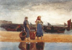 Winslow Homer - dois raparigas à Beach , Tynemouth