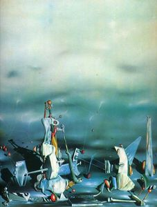 Yves Tanguy - Palácio no Windows rochas