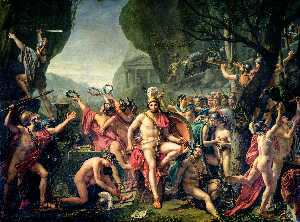 Jacques Louis David - Leonidas em Thermopylae