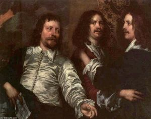 William Dobson - o pintor com sir charles cottrell e sir balthasar gerbier