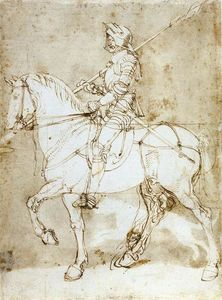 Albrecht Durer - Knight on Horseback