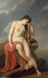 Pierre Narcisse Guérin - Sappho no Leucadian Cliff