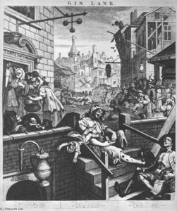 William Hogarth - Gin Lane,