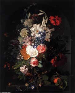 Jan Van Huysum - bouquet de flores