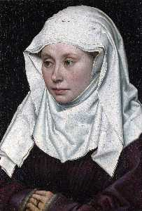 Robert Campin (Master Of Flemalle) - retrato de uma woman