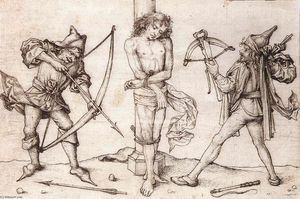 Master Of The Housebook - St Sebastian com Archers