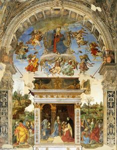Filippino Lippi - Parede do altar da capela Carafa