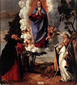 Lorenzo Lotto - `assumption` de virgem