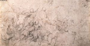 Michelangelo Buonarroti - Estuda para o Battle of Cascina