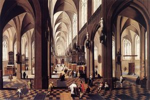 Peeter Neeffs The Younger - Interior of Antwerp Catedral