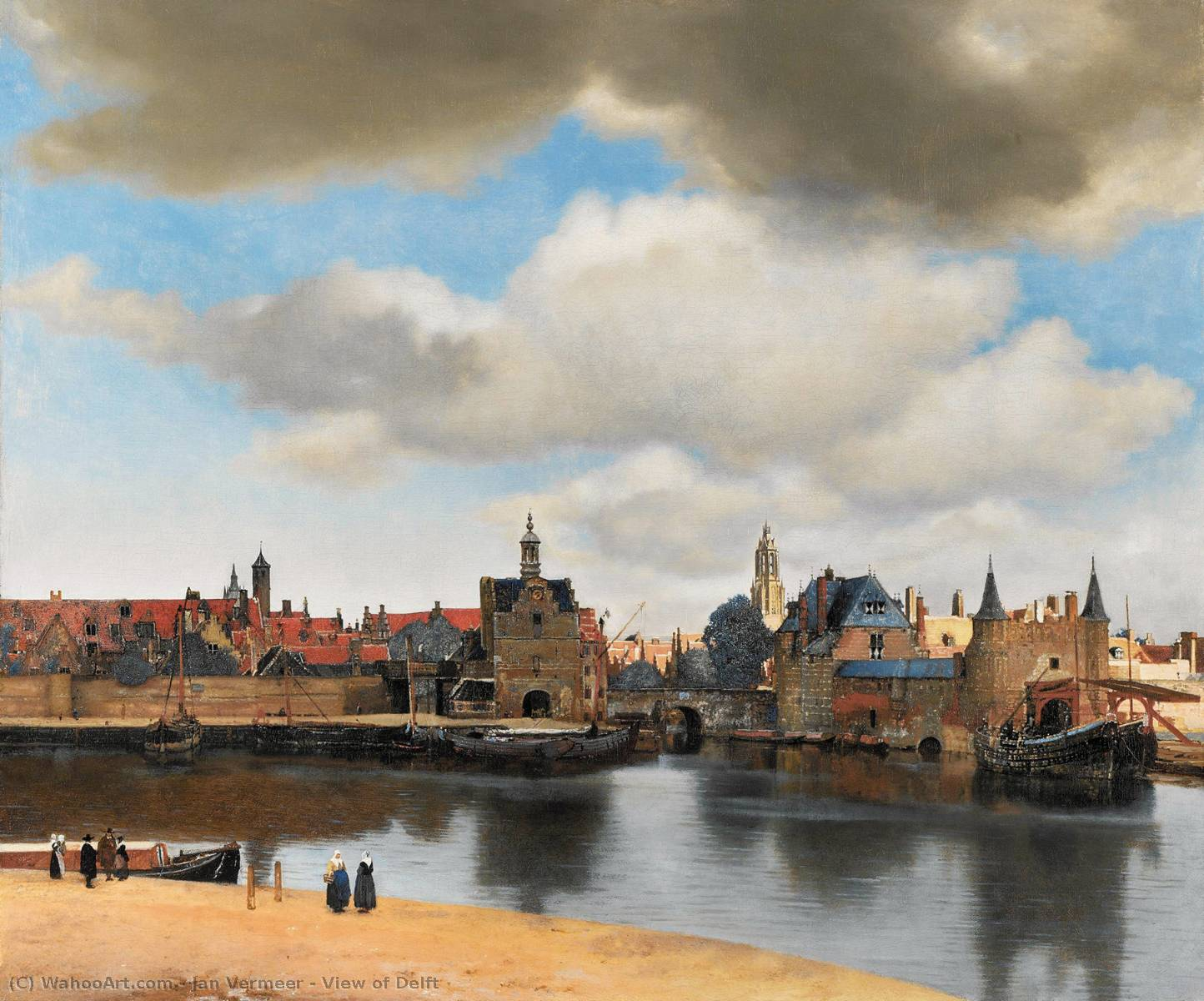Vista de Delft, óleo sobre tela por Jan Vermeer (1632-1675, Dutch Republic)