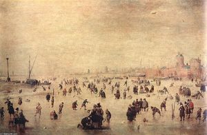 Hendrick Avercamp - Skaters