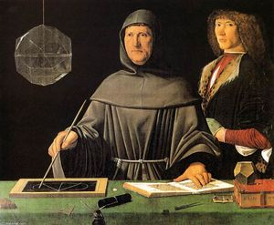 Jacopo De Barbari - Retrato de Fra Luca Pacioli e um Unknown Young Man